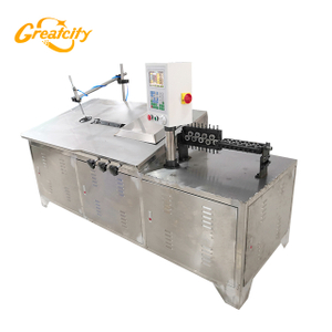 Metal wire bar cutting and bending machine