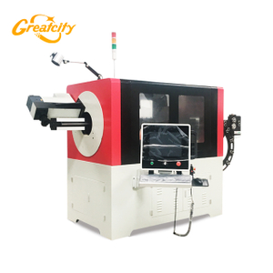 Supermarket steel wire hanger bending machine, universal cnc steel wire bender for sale