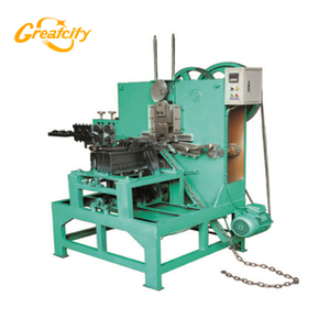 Mechanical wire twist 8 O ring steel chain making machine