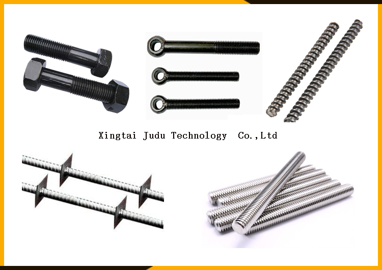 Greatcity big two rollers bars rods ball screw Trapezoidal thread worm thread rolling machine for Construction parts